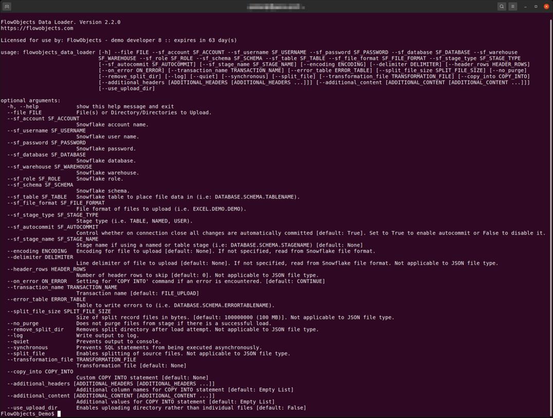 FlowObjects Data Laoder Screenshot